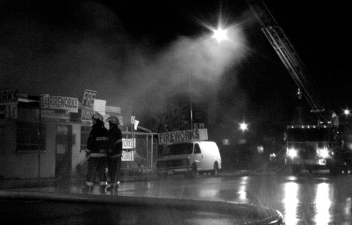 VANCOUVER — A fireworks and garden supply store on Venables Street in Vancouver caught fire at around 5:15 a.m. on Nov. 1.